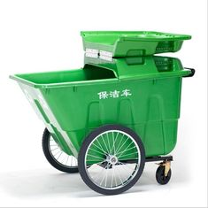 Eco - Friendly Large Garbage Cans SMC Industrial Outdoor With Two Wheel